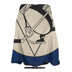 Excellent Quality Pittsburgh Penguins Haircut apron 55*66 in #182139 Unisex Barbers for Hair Cutting Apron